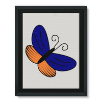Beauty Ob Butterfly Framed Eco-Canvas 18X24 Wall Decor
