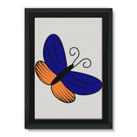 Beauty Ob Butterfly Framed Eco-Canvas 20X30 Wall Decor