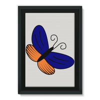 Beauty Ob Butterfly Framed Eco-Canvas 24X36 Wall Decor
