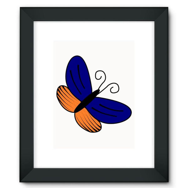 Beauty Ob Butterfly Framed Fine Art Print 12X16 / Black Wall Decor