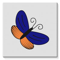 Beauty Ob Butterfly Stretched Eco-Canvas 10X10 Wall Decor