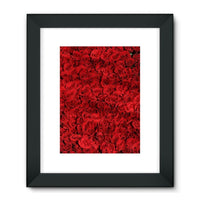 Bed Of Red Roses Framed Fine Art Print 18X24 / Black Wall Decor