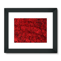 Bed Of Red Roses Framed Fine Art Print 32X24 / Black Wall Decor
