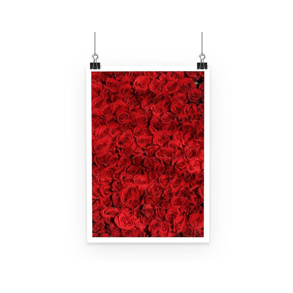 Bed Of Red Roses Poster A3 Wall Decor