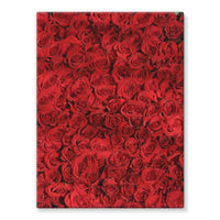 Bed Of Red Roses Stretched Canvas 12X16 Wall Decor