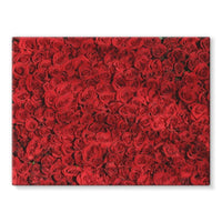 Bed Of Red Roses Stretched Canvas 24X18 Wall Decor