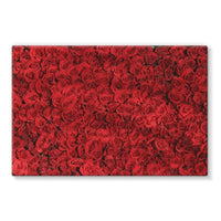 Bed Of Red Roses Stretched Canvas 36X24 Wall Decor