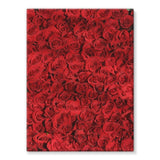Bed Of Red Roses Stretched Eco-Canvas 18X24 Wall Decor