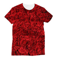 Bed Of Red Roses Sublimation T-Shirt S Apparel
