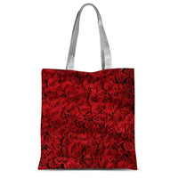 Bed Of Red Roses Sublimation Tote Bag 15X16.5 Accessories