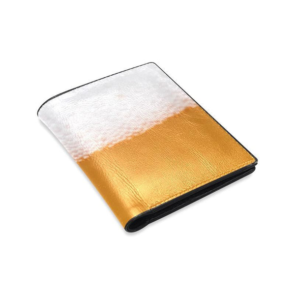 Beer Foam Mens Leather Wallet (1612)