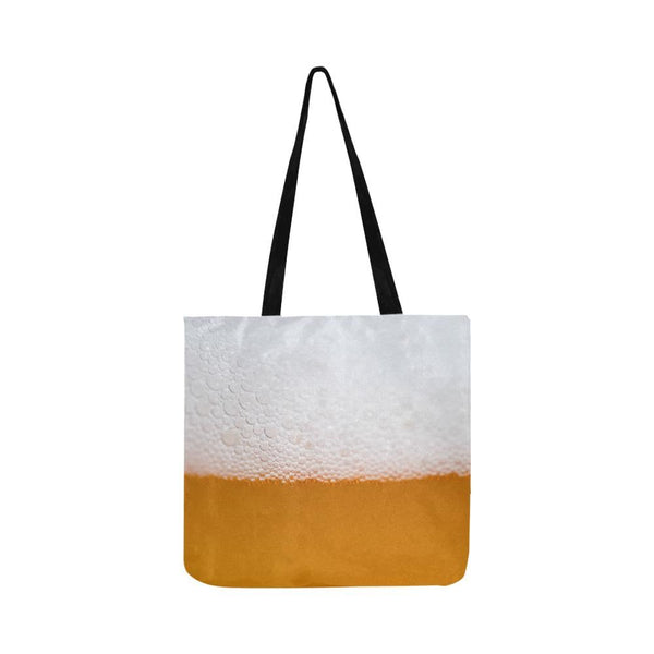 Beer Foam Reusable Tote Shopping Bag (Two Sides) (1660)