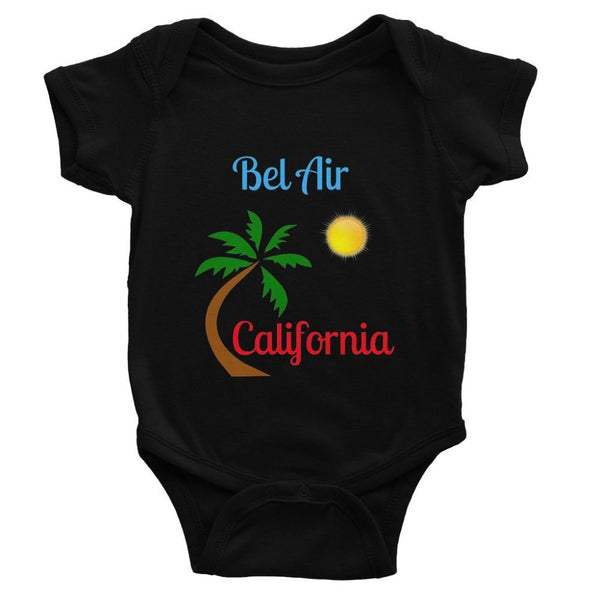Bel Air California Palm Sun Baby Bodysuit 0-3 Months / Black Apparel