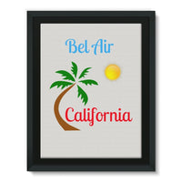 Bel Air California Palm Sun Framed Canvas 12X16 Wall Decor