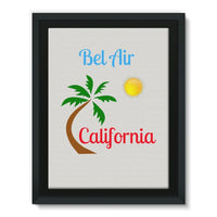 Bel Air California Palm Sun Framed Canvas 24X32 Wall Decor
