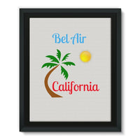 Bel Air California Palm Sun Framed Eco-Canvas 11X14 Wall Decor