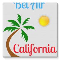 Bel Air California Palm Sun Stretched Eco-Canvas 10X10 Wall Decor