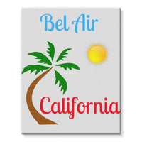 Bel Air California Palm Sun Stretched Eco-Canvas 11X14 Wall Decor