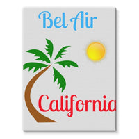 Bel Air California Palm Sun Stretched Eco-Canvas 18X24 Wall Decor