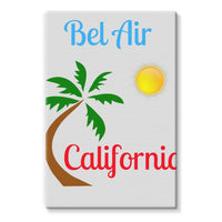 Bel Air California Palm Sun Stretched Eco-Canvas 24X36 Wall Decor