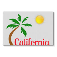 Bel Air California Palm Sun Stretched Eco-Canvas 36X24 Wall Decor