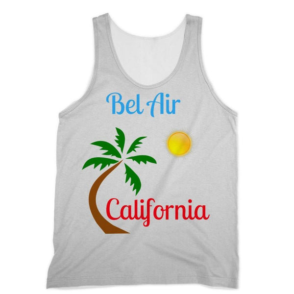 Bel Air California Palm Sun Sublimation Vest Xs Apparel