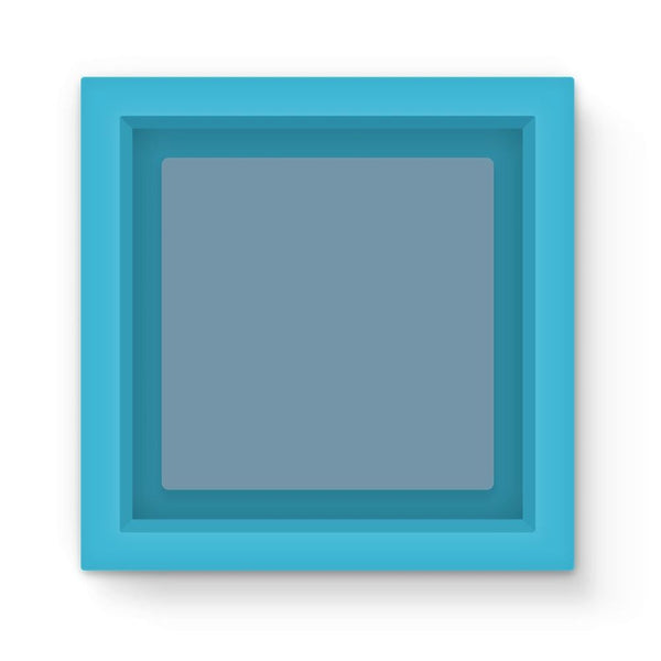 Bermuda Grey Color Magnet Frame Light Blue Homeware