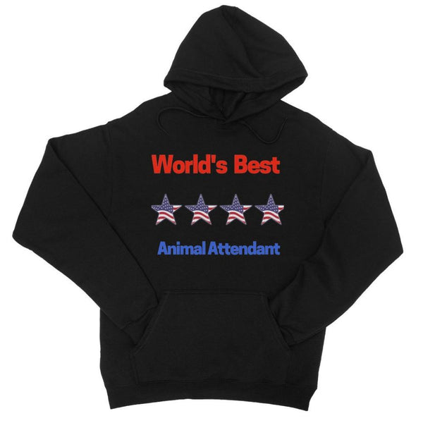 Best Animal Attendant College Hoodie Xs / Black Apparel