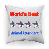 Best Animal Attendant Cushion Faux Suede / 18X18 Homeware