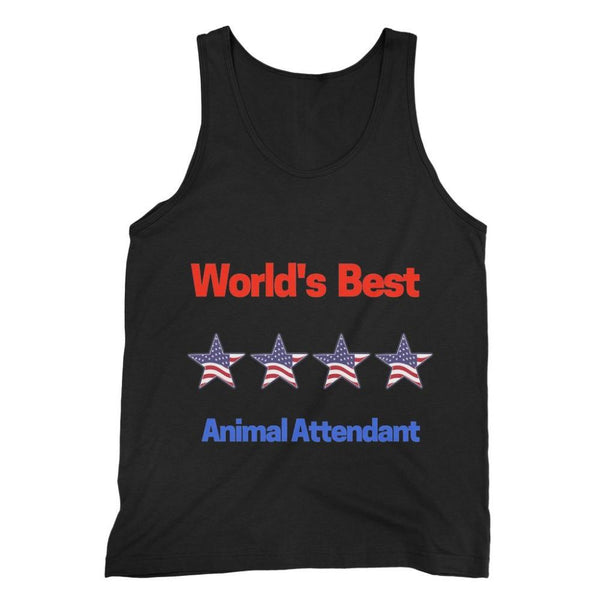 Best Animal Attendant Fine Jersey Tank Top S / Black Apparel