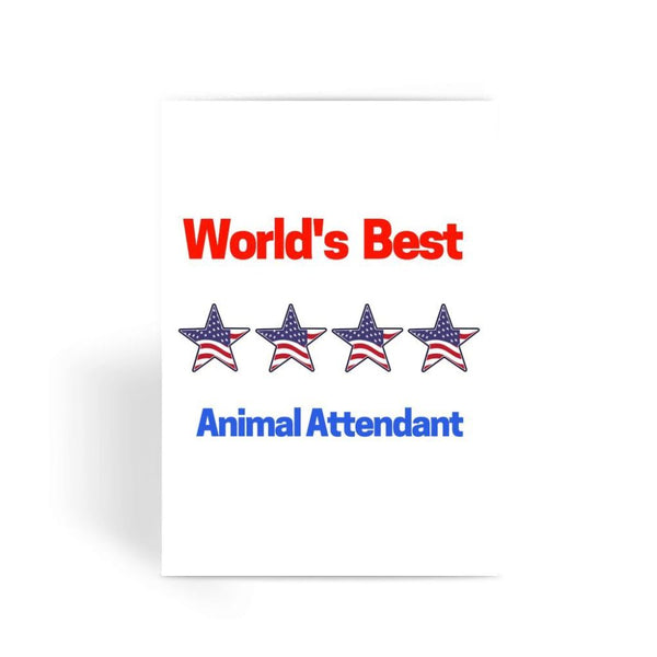 Best Animal Attendant Greeting Card 1 Prints