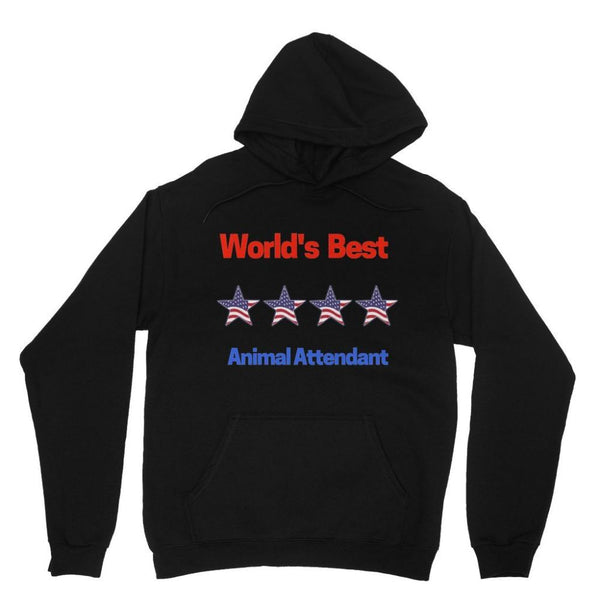 Best Animal Attendant Heavy Blend Hooded Sweatshirt Xs / Black Apparel