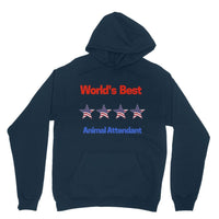 Best Animal Attendant Heavy Blend Hooded Sweatshirt Xs / Navy Apparel