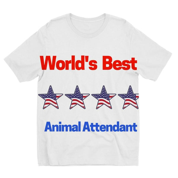 Best Animal Attendant Kids Sublimation T-Shirt 3-4 Years Apparel