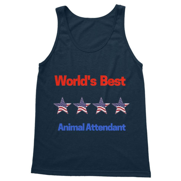 Best Animal Attendant Softstyle Tank Top S / Navy Apparel
