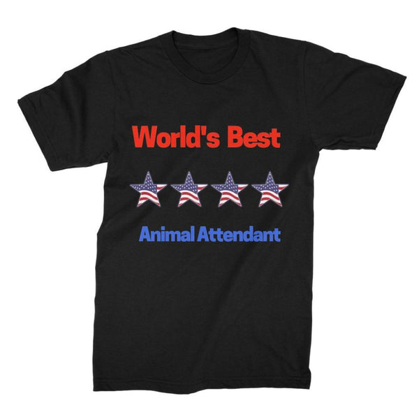 Best Animal Attendant Unisex Fine Jersey T-Shirt S / Black Apparel