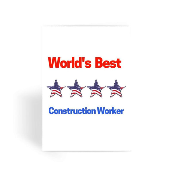 Best Construction Worker Greeting Card 1 Prints