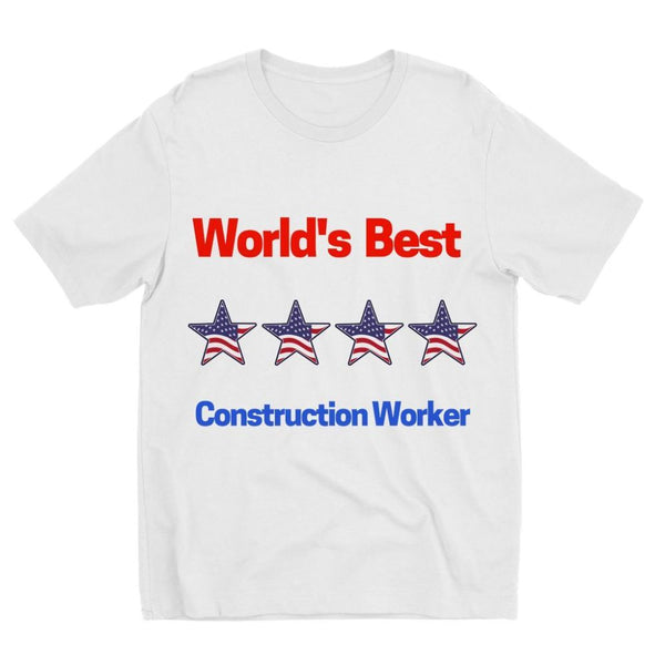 Best Construction Worker Kids Sublimation T-Shirt 3-4 Years Apparel
