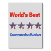 Best Construction Worker Stretched Eco-Canvas 18X24 Wall Decor