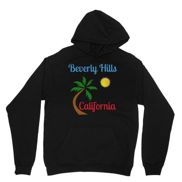 Beverly Hills California Heavy Blend Hooded Sweatshirt Xs / Black Apparel