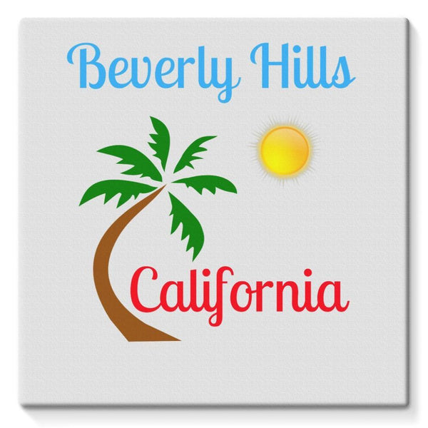 Beverly Hills California Stretched Canvas 10X10 Wall Decor