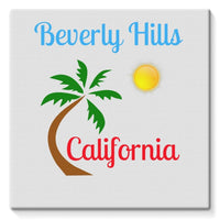 Beverly Hills California Stretched Canvas 14X14 Wall Decor