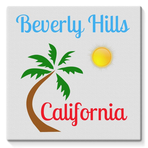 Beverly Hills California Stretched Eco-Canvas 10X10 Wall Decor