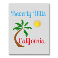 Beverly Hills California Stretched Eco-Canvas 11X14 Wall Decor