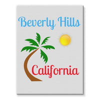 Beverly Hills California Stretched Eco-Canvas 18X24 Wall Decor