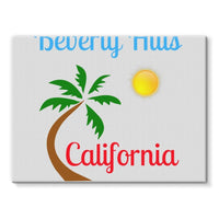 Beverly Hills California Stretched Eco-Canvas 24X18 Wall Decor