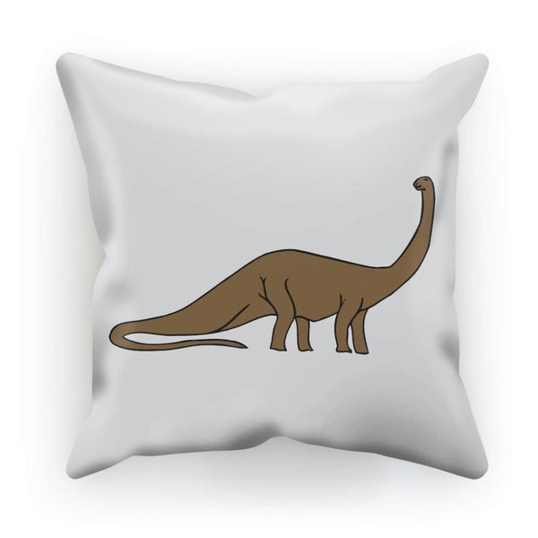 Big Brontosaurio Dinosaur Cushion Linen / 12X12 Homeware