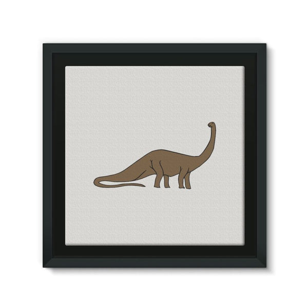 Big Brontosaurio Dinosaur Framed Canvas 12X12 Wall Decor