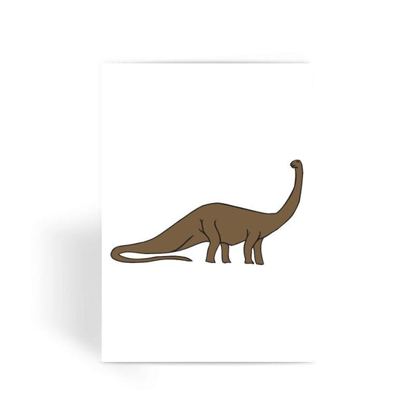 Big Brontosaurio Dinosaur Greeting Card 1 Prints