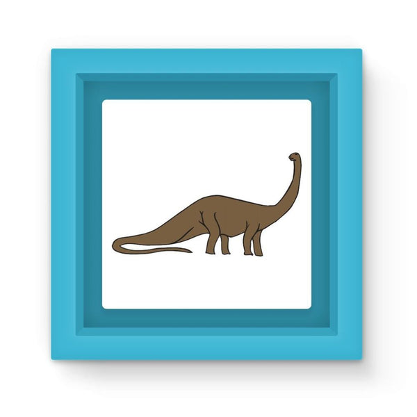 Big Brontosaurio Dinosaur Magnet Frame Light Blue Homeware